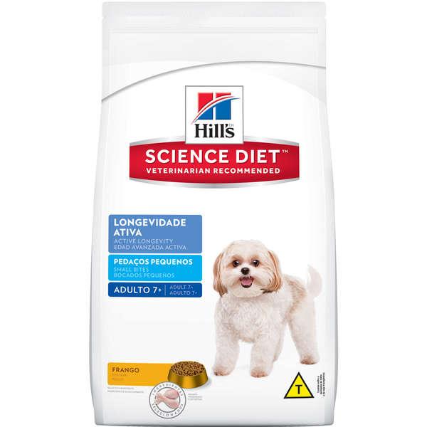 Ração Seca Hill's Science Diet Pedaços Pequenos para Cães Adultos 7+ 1Kg