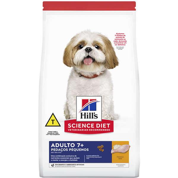Ração Seca Hill's Science Diet Pedaços Pequenos para Cães Adultos 7+ 800g