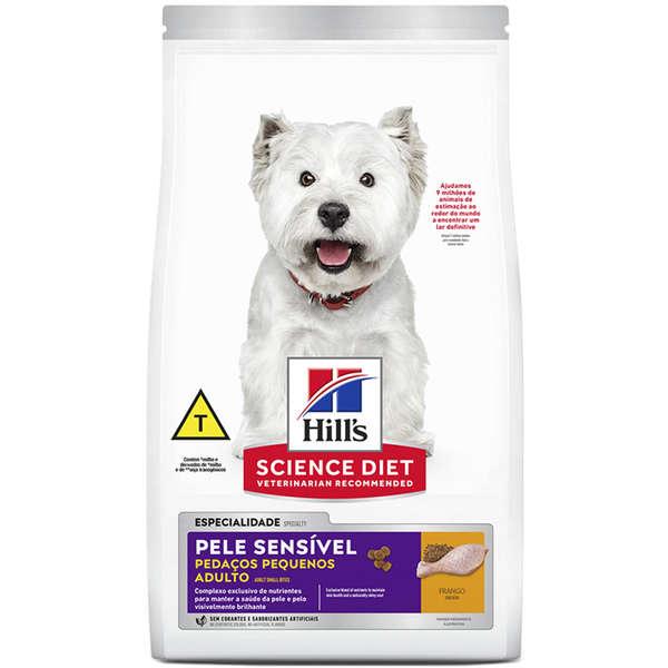 Ração Seca Hill's Science Diet Pele Sensível Pedaços Pequenos para Cães Adultos 2,4Kg