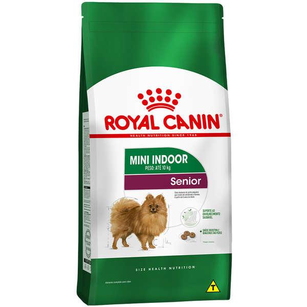 Ração Seca Royal Canin Mini Indoor Senior para Cães de Raças Pequenas com 8 Anos ou mais 2,5Kg