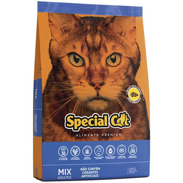 Ração Special Cat para Gatos Adultos Sabor Mix 10,1 Kg