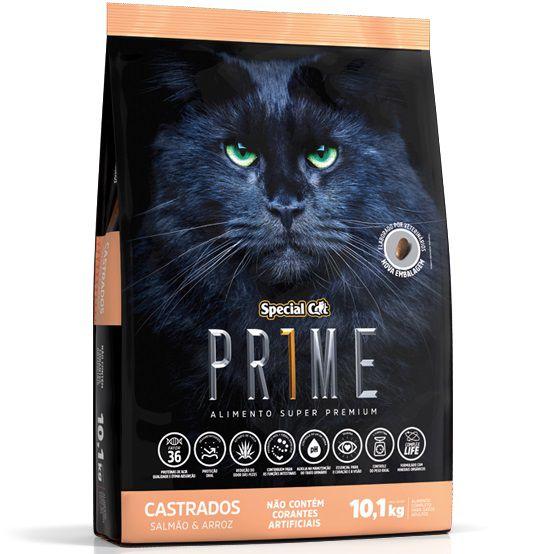 Ração Special Cat Prime para Gatos Castrados Sabor Salmão e Arroz 10,1 Kg