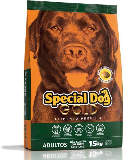 Ração Special Dog Gold para Cães Adultos Sabor Frango e Carne 15 Kg