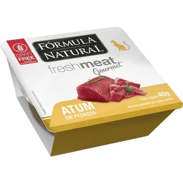 Ração Úmida Fórmula Natural Fresh Meat Gourmet Atum em Pedaços para Gatos Adultos 40g