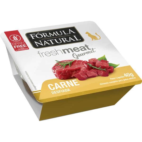 Ração Úmida Fórmula Natural Fresh Meat Gourmet Carne Desfiada para Gatos Adultos 40g