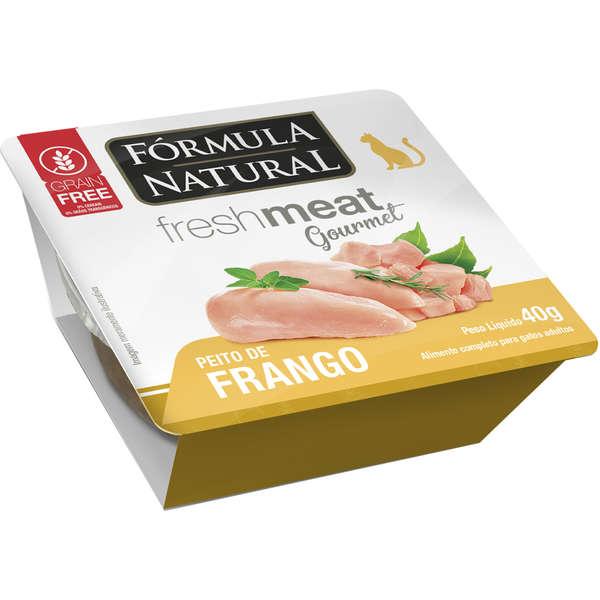 Ração Úmida Fórmula Natural Fresh Meat Gourmet Peito de Frango para Gatos Adultos 40g