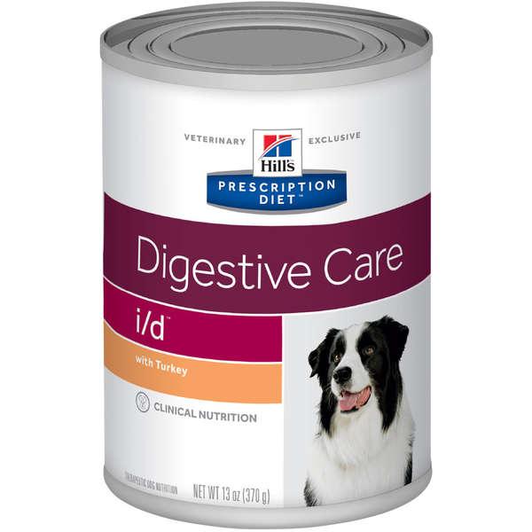 Ração Úmida Hill's Prescription Diet I/D Cuidado Digestivo para Cães com Doenças Gastrointestinais 370g Lata
