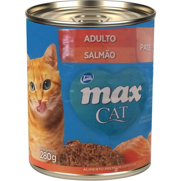 Ração Úmida Lata Max Gatos Adultos Patê Salmão 280g