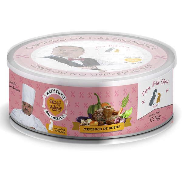 Ração Úmida Natural Mon Petit Chéri Carne para Gatos Adultos 120g