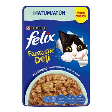 Ração Úmida Sachê Felix Fantastic Deli Atum para Gatos Adultos 85g