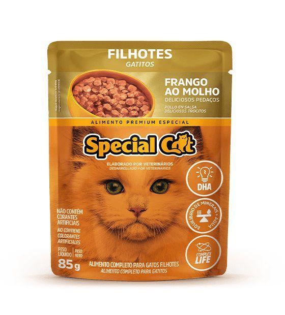 Ração Úmida Sachê Special Cat para Gatos Filhotes Sabor Frango 85g