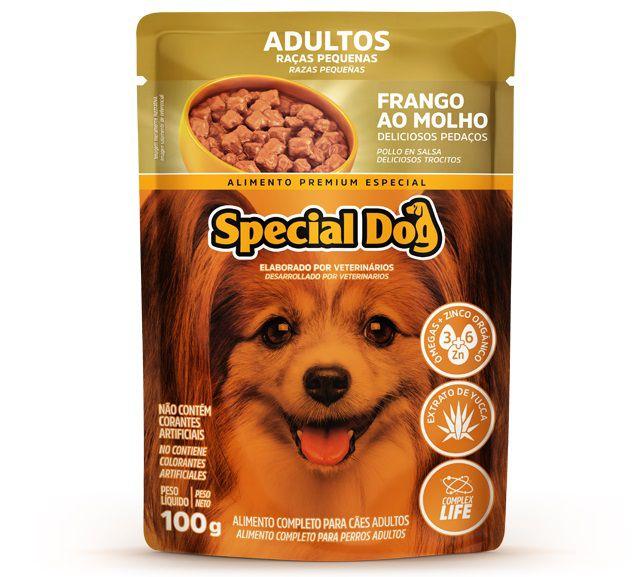 Ração Úmida Sachê Special Dog para Cães Adultos de Raças Pequenas Sabor Frango 100g