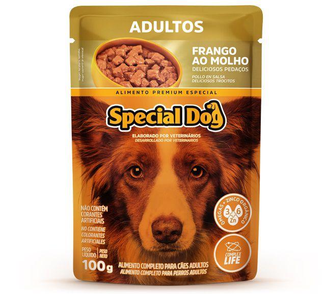 Ração Úmida Sachê Special Dog para Cães Adultos Sabor Frango 100g