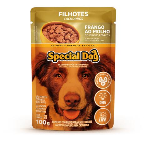 Ração Úmida Sachê Special Dog para Filhotes Sabor Frango 100g