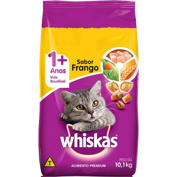 Ração Whiskas para Gatos Adultos Sabor Frango 10kg