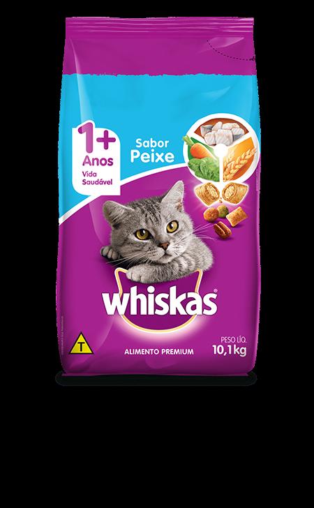 Ração Whiskas para Gatos Adultos Sabor Peixe 10,1 Kg