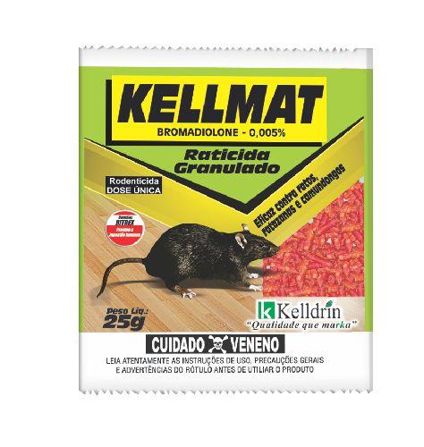 Raticida Kellmat Granulado 25g Kelldrin