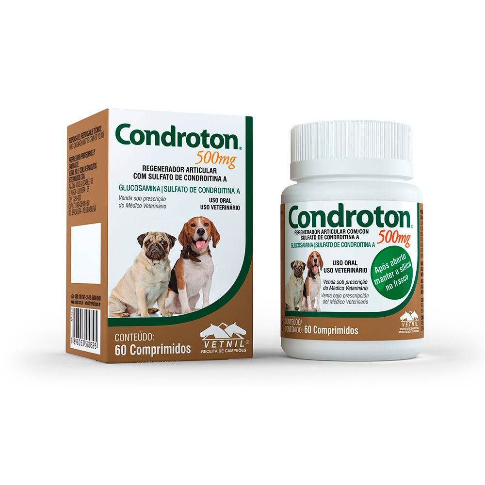 Regenerador Articular Vetnil Condroton 500 Mg 60 Comprimidos