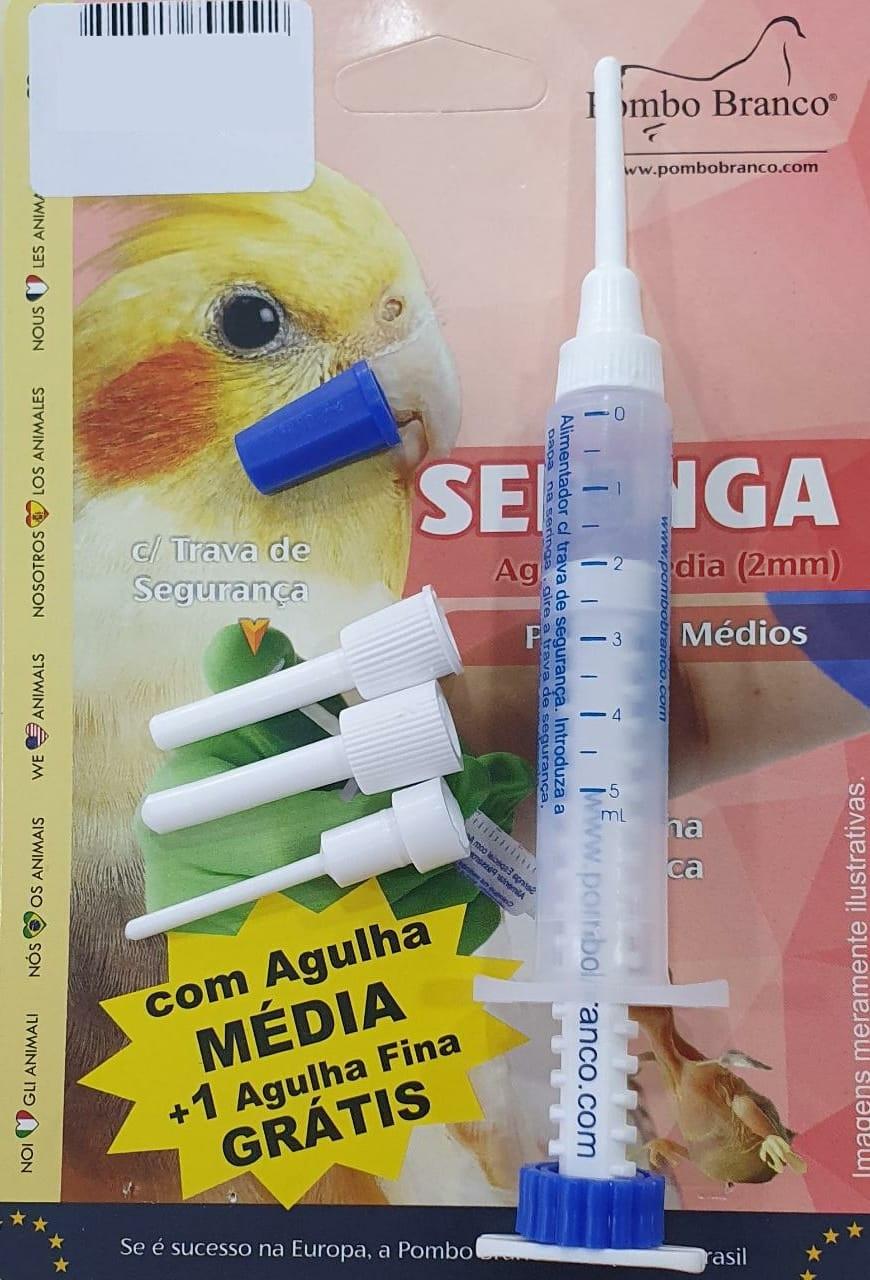 Seringa Média Para Alimentação Filhotes Calopsitas Agapornis Aves