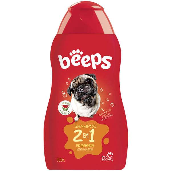 Shampoo 2 em 1 para Cães Beeps - 500 mL