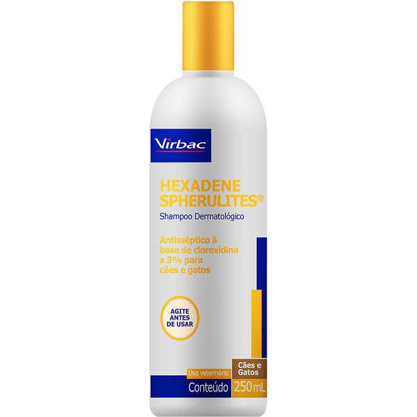 Shampoo Dermatológico Hexadene Spherulites para Cães e Gatos 250ml - Virbac