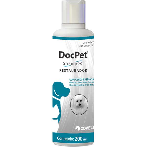 Shampoo DocPet Restaurador 200ml Coveli