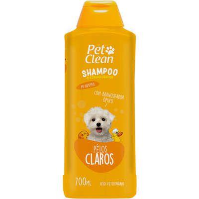 SHAMPOO E CONDICIONADOR PET CLEAN PELOS CLAROS 700ML