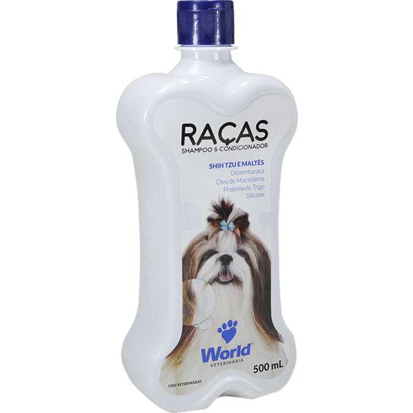 Shampoo e Condicionador World Veterinária Raças para Shih Tzu e Maltês 500ml