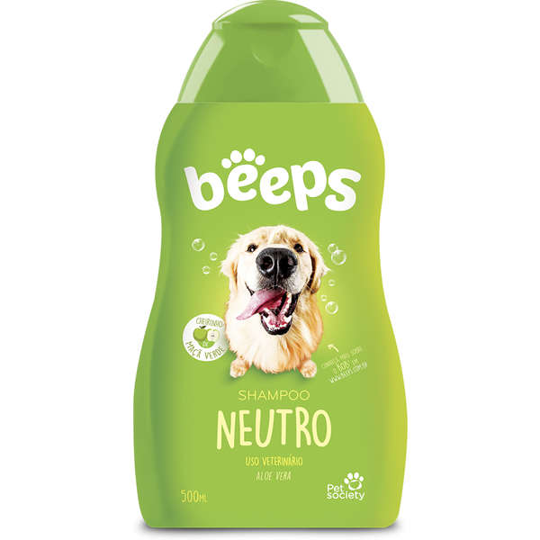 Shampoo Neutro para Cães Beeps - 500 mL