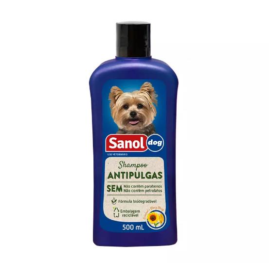 SHAMPOO SANOL DOG ANTIPULGAS 500ML
