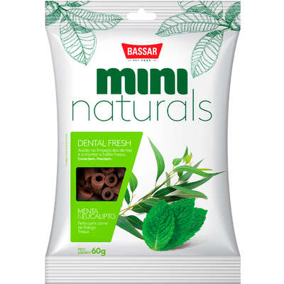 Snack Bassar Mini Naturals Dental Fresh Menta & Eucalipto 60g