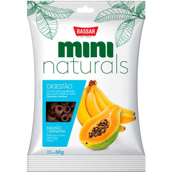 Snack Bassar Mini Naturals Digestão Mamão & Banana 60g
