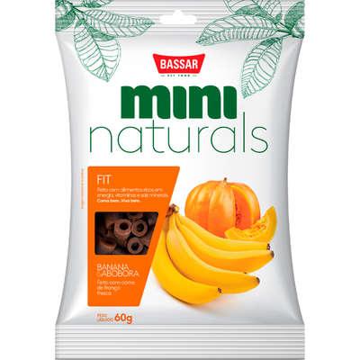 Snack Bassar Mini Naturals Fit Banana & Abóbora 60g
