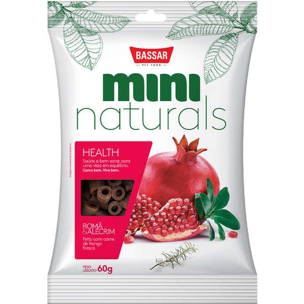 Snack Bassar Mini Naturals Health Romã & Alecrim 60g