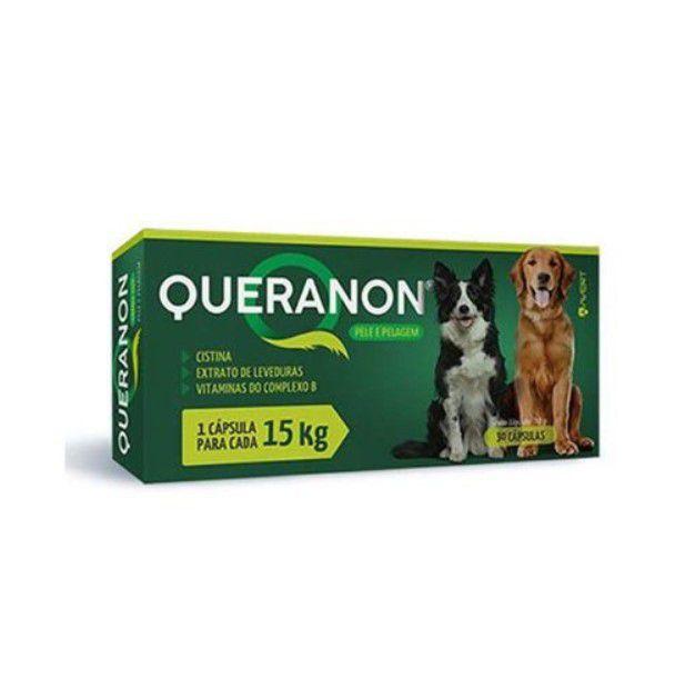 Queranon Pele e Pelagem Suplemento Alimentar para Cães de até 15 kg 30 Cápsulas