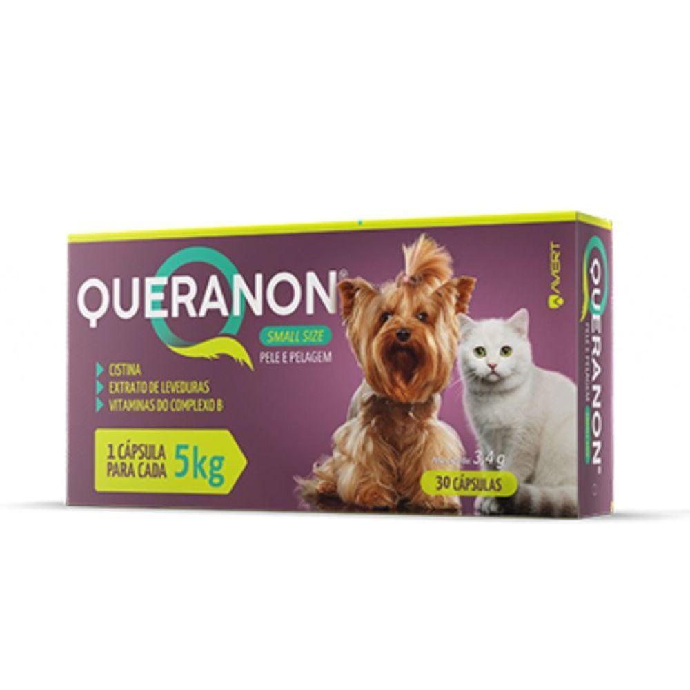 Queranon Small Size Suplemento Alimentar para Cães e Gatos de até 5 kg  30 cápsulas