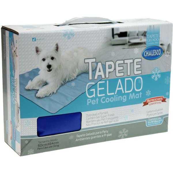 Tapete Gelado Chalesco Pet Cooling Mat Tamanho M 50x64cm