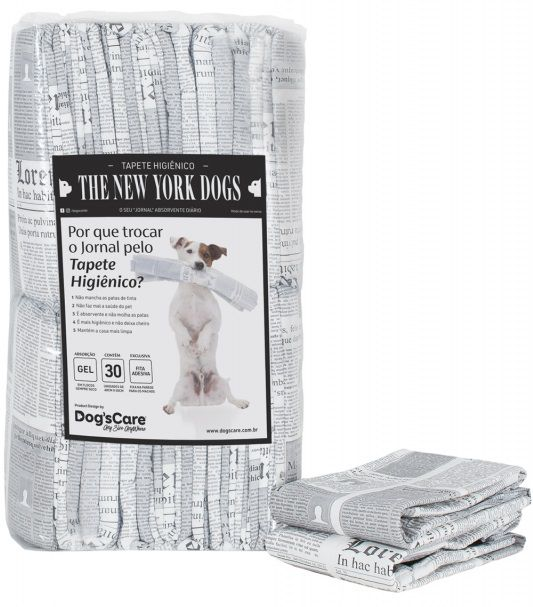 Tapete Higiênico Dog's Care The New York Dogs 30 Unidades