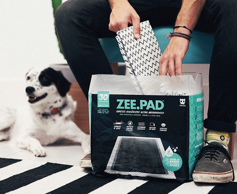 Tapete Higiênico Zeepad para Cães com 30 Unidades - Cor Cinza