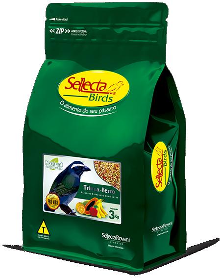 Trinca-ferro Natural com Frutas 3 Kg - Sellecta Birds