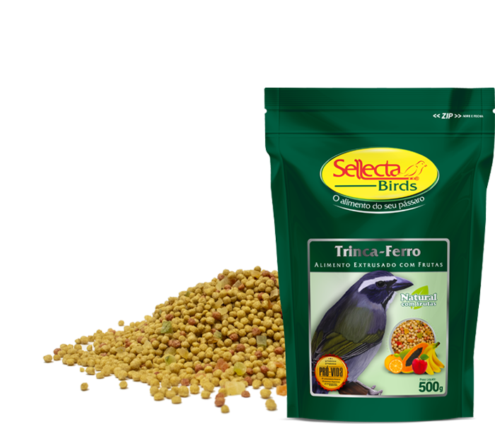 Trinca-ferro Natural com Frutas 500g - Sellecta Birds