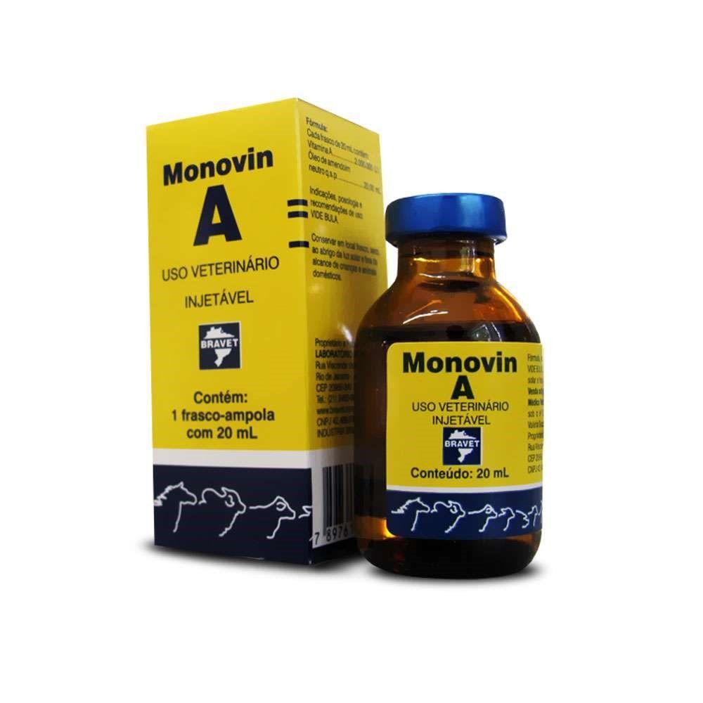 Vitamina Monovin A 20 ml - Bravet
