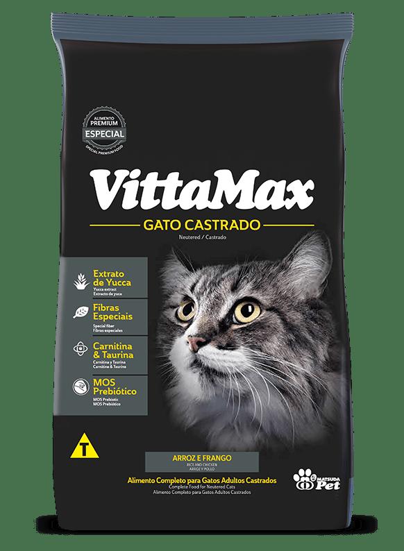 Ração VittaMax para Gatos Castrados sabor Frango 1Kg