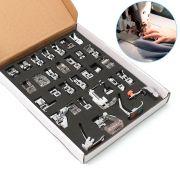 Kit de Calcadores Sapatas Multiuso para Máquinas Domésticas 32 Peças