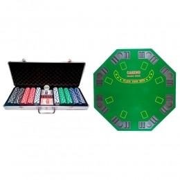 Kit Maleta de Poker 500 Fichas e Mesa