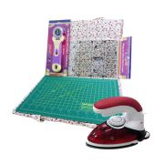 Kit Mini Ferro + Kit Bolsa com Base Patchwork