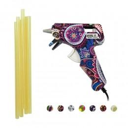 Kit Pistola Estampada  + Cola Quente Fina