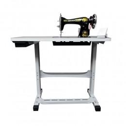 Máquina de Costura Doméstica JA2-02 Com Mesa e Motor (Pretinha)