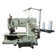 Máquina de Costura Fechadeira Plana 3 Agulhas com Catraca W-4503 PTF Fechar Lateral de Calças