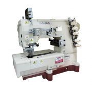 Máquina de Costura Galoneira Plana Base Fechada WX-8803D Bainha Viés Polo